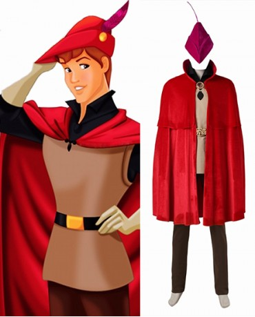 Sleeping Beauty Princess Aurora Prince Phillip Cosplay Costume