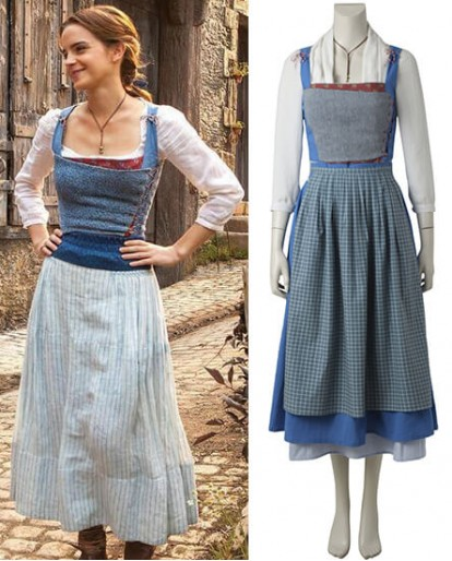 2017 New Belle Beauty and the Beast Cosplay Costume