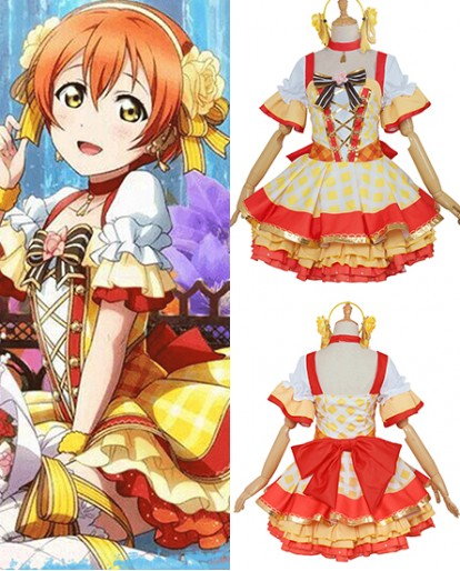 New Hoshizora Rin Love Live Flower Bouquet Idolized Cosplay Costume