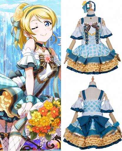 New Ayase Eri Love Live Flower Bouquet Idolized Ayase Eri Cosplay Costume