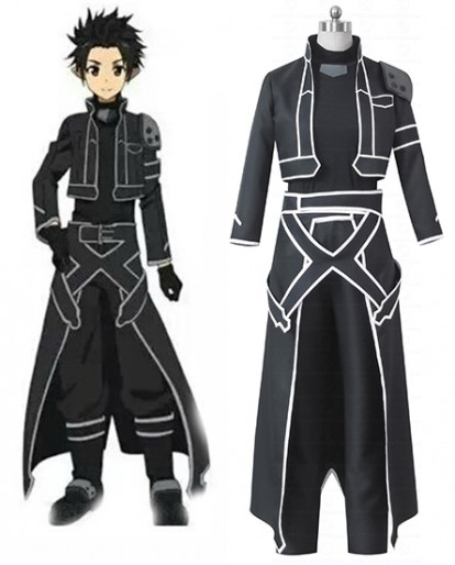 Sword Art Online (ALfheim Online) Kirito Leather Cosplay Costume