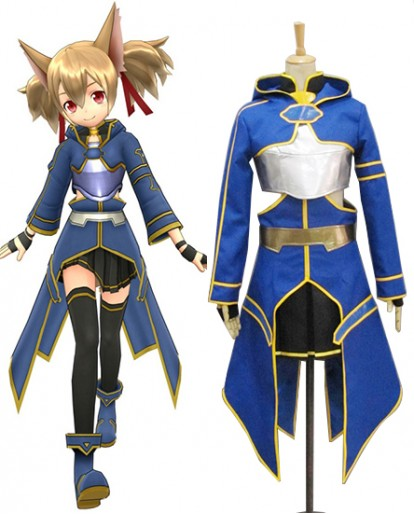 New Silica Shirika Ayano Keiko Sword Art Online Gun Gale Online Cosplay Costume