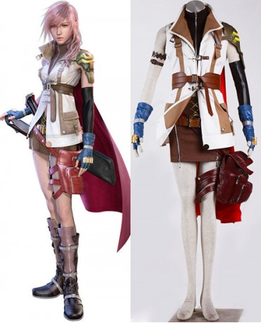 New Final Fantasy XIII FF13 Lightning Cosplay Costume