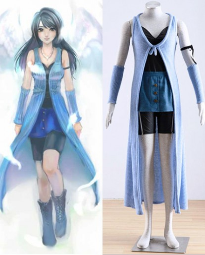New Final Fantasy VIII 8 Rinoa Battle Cosplay Costume