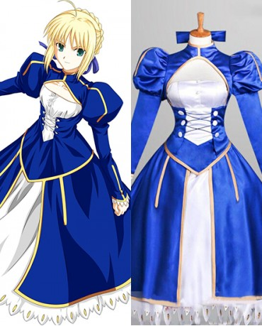 New Fate Stay Night Saber Cosplay Costume