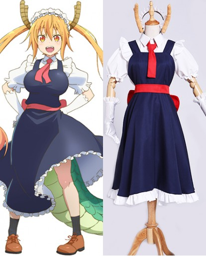New Tohru Miss Kobayashi san Dragon Maid Toru Maid Uniform Cosplay Costume