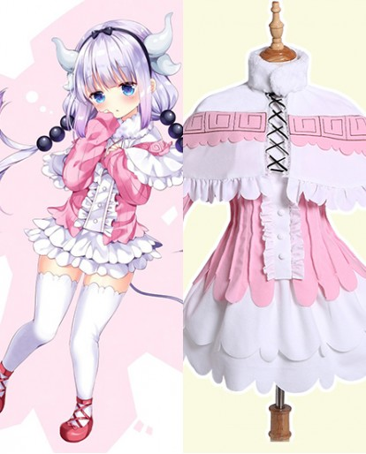 New Miss Kobayashi's Dragon Maid Kanna Cosplay Costumes Lolita Dress