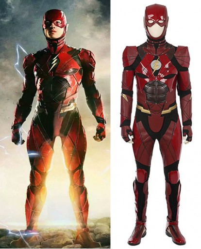 Justice League Flash Barry Allen Cosplay Costume