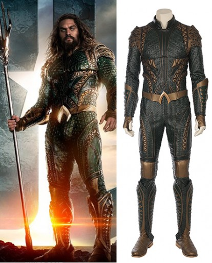 Justice League Aquaman Arthur Curry Cosplay Costume