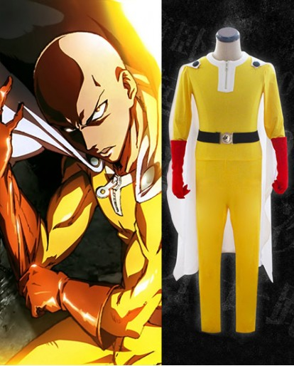 New One Punch Man Saitama Cosplay Costume
