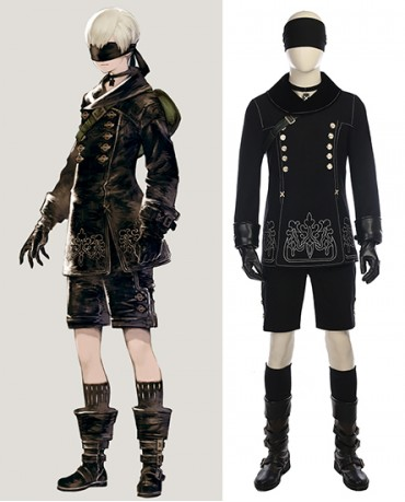 Hot Game NieR Automata 9S Cosplay costume(include boots)