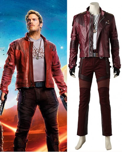 Star Lord Peter Quill Guardians Of The Galaxy Cosplay Costume(red pants)