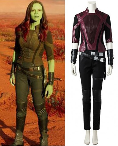 Gamora Guardian of the Galaxy Cosplay Costume(short jacket)