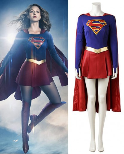 Supergirl Costume Superwoman Kara Danvers Cosplay Costumes