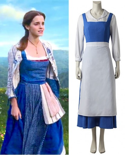 Beauty and the Beast Maid Gown Apron Dress Cosplay Costume
