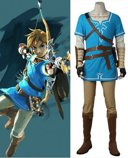 The Legend of Zelda: Breath of the Wild Link Cosplay Costume