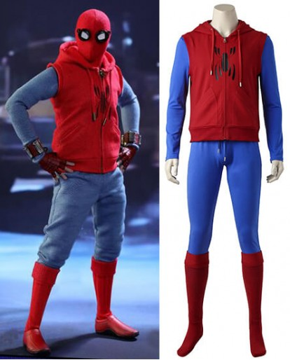 Spiderman Homecoming Peter Benjamin Parker Cosplay Costume