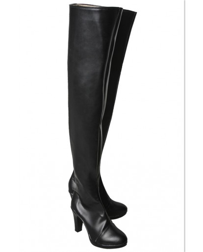 NEW NieR Automata 2b Sexy Black Dress Cosplay Boots