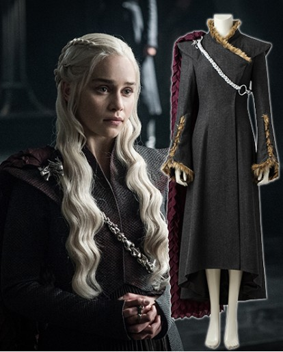 Game of Thrones Season 7 Daenerys Targaryen cosplay costume winter