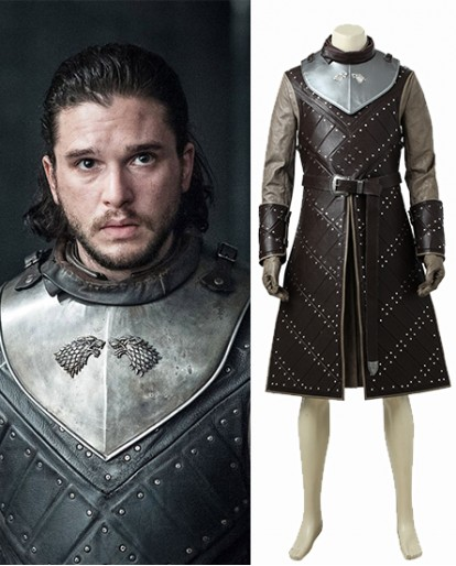 Jon Snow Nights Watch Battle Armour Cosplay Costume