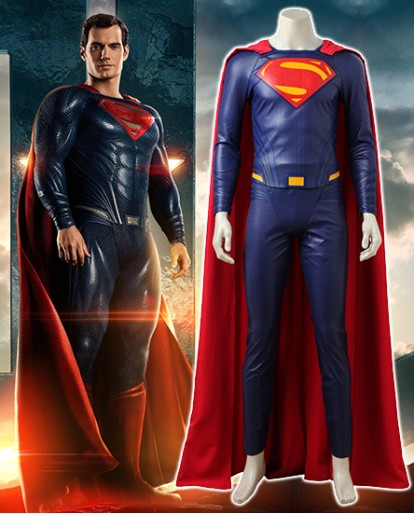 Justice League Superman Clark Kent Cosplay Costume