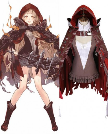 SINoAlice Red Riding Hood Crusher Cosplay Costume