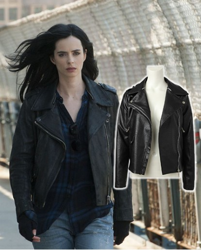 Jessica Jones black jacket Cosplay costume