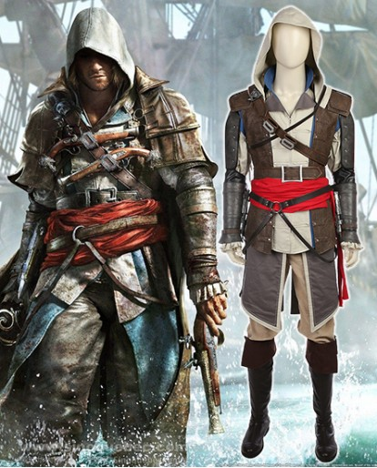New Assassin's Creed IV: Black Flag Edward Cosplay Cosutme