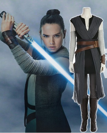 Star Wars Last Jedi Rey Adult Cosplay Costume