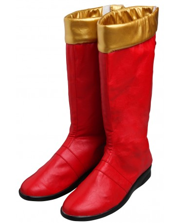 Power Rangers Dino Thunder Red Cosplay Boots