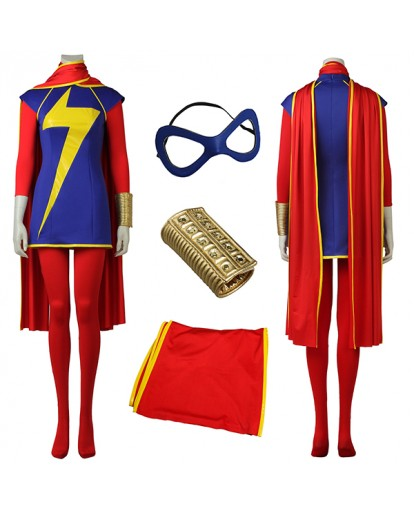 Ms. Marvel The Fourth Generation Kamala Khan Cosplay Costume