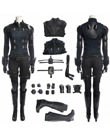 Avengers Infinity War 2018 Black Widow Natasha Romanoff Cosplay Costume