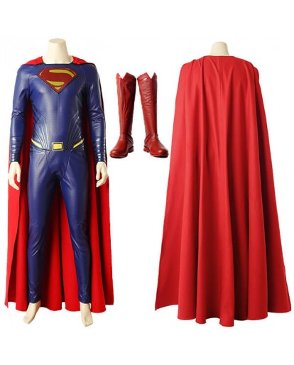 DC Justice League Superman Clark Kent Cosplay Costume