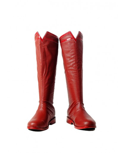 DC Justice League Superman Clark Kent Cosplay Boots