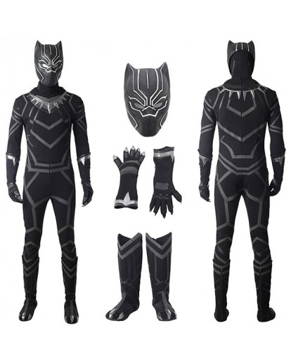 Captain America 3 :Civil War Black Panther Cosplay Costume
