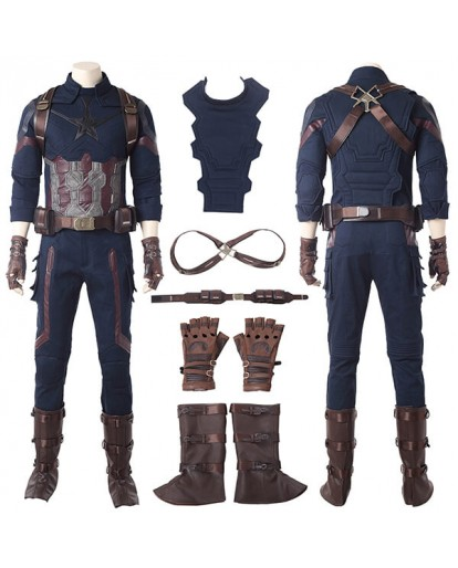 Avengers: Infinity War Captain America Cosplay Costume