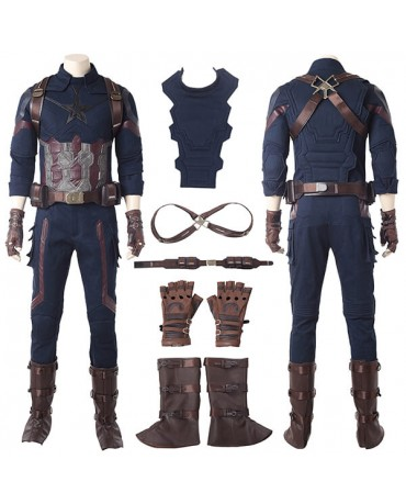 America Civil War Captain America Cosplay Costume