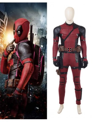 The Latest Deadpool 2 Wade Wilson Cosplay Costume Full suit Halloween