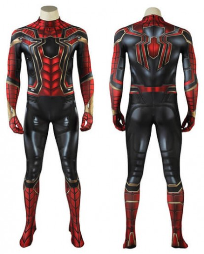 2018 Avengers: Infinity War Spiderman Peter Parker Cosplay Costume Halloween Fullbody Tights
