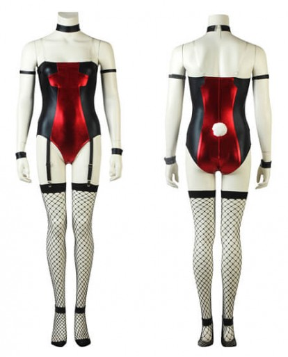 Deadpool Girl Cross Dressing Sexy Comic Con Fashion Cosplay Costume