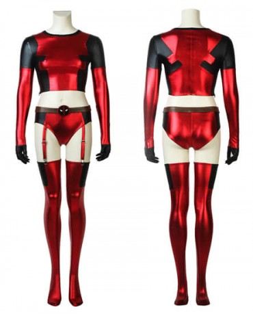 Deadpool Girl Sexy Dressing Comic Con Outfit Cosplay Costume