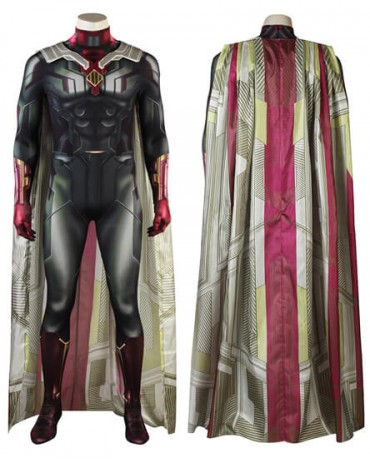 2018 New(Vision)Avengers Infinity War Cosplay costume Halloween Bodysuit