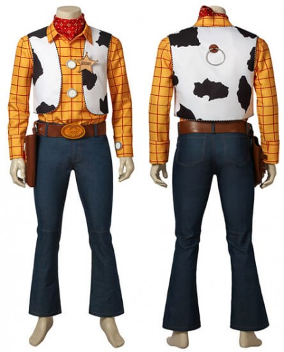 Toy Story Woody Cowboy Mascot Men Cosplay Costume
