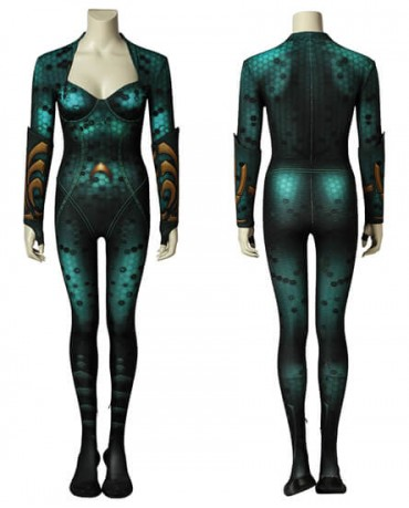 HOT Movie Aquaman Mera Cosplay Costume 3D Printed Women's Zentail Halloween