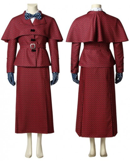 New Mary Poppins Cosplay Costume Fancy Dress Halloween Cosplay Costume