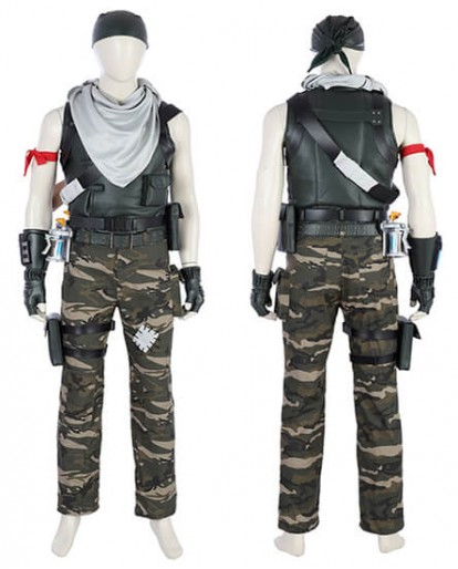 Fortnite Special Forces Cosplay Costume Camouflage Game Uniform Full Suit