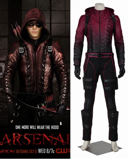 Red Arrow Roy Harper Arrow Halloween Cosplay Costume
