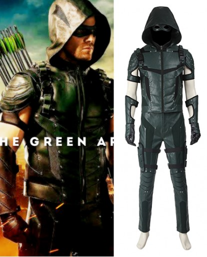 Oliver Queen Green Arrow Season 4 Cosplay Costume