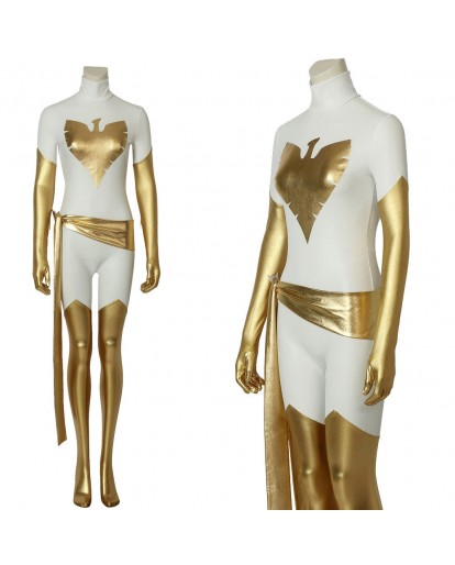X-Men White Phoenix Costume Marvel Jean Grey Cosplay Bodysuit Halloween Costume