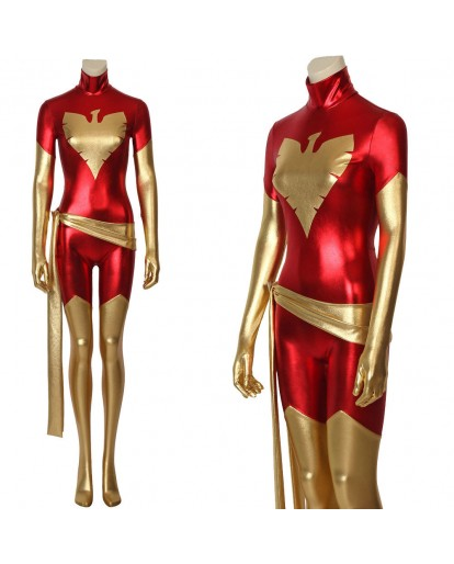 X-Men Dark Phoenix Costume Marvel Jean Grey Cosplay Jumpsuit Halloween Costume